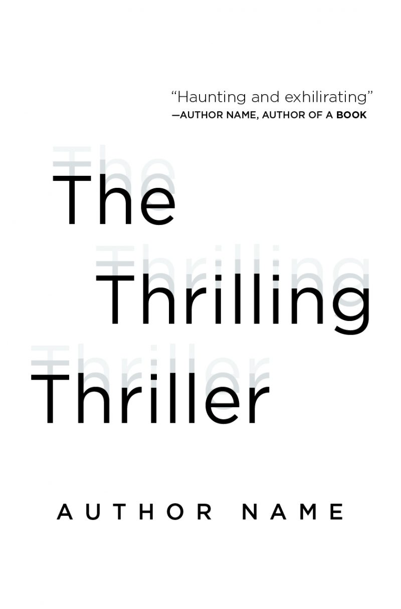 thriller book design