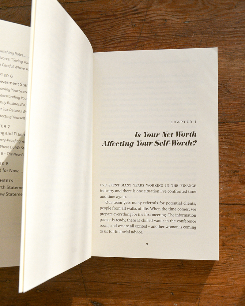 Interior book design for Victoria Lowell's book Empower Your Worth